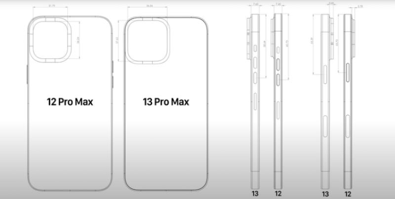 Thiết kế của dòng iPhone 13 được tiết lộ thông qua video CAD: Hệ thống camera lớn hơn, thân máy dày hơn