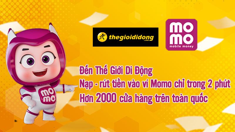 Nạp tiền Momo siêu đơn giản tại Thế Giới Di Động, chỉ 2 phút tiền về tài khoản