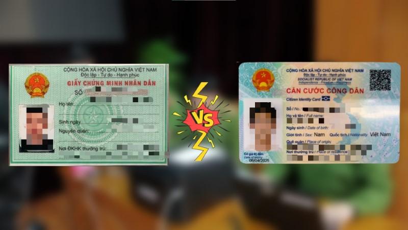Những điểm khác biệt cơ bản giữa thẻ căn cước công dân gắn chip (CCCD) và chứng minh nhân dân