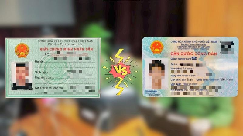 Những điểm khác biệt cơ bản giữa thẻ Căn cước công dân gắn chip (CCCD gắn chip) và Chứng minh nhân dân