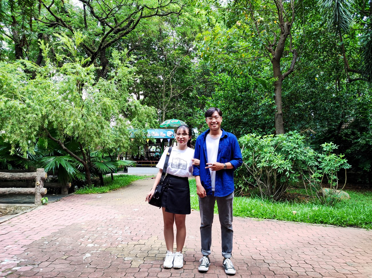 Finally, I got a sister on the street to take a picture of us
