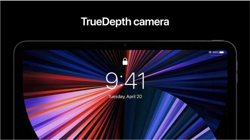 Camera trước với thiết kế riêng cho iPad và tính năng mới Center Stage trên iPad Pro 2021.