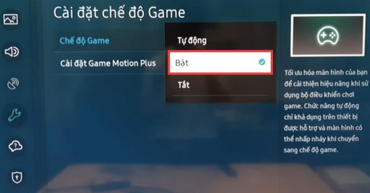 Chế độ Game Mode giúp tối ưu hoá khi chiến các tựa game