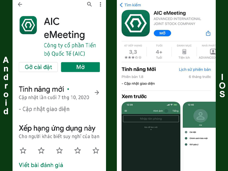 eMeeting on Android and IOS devices