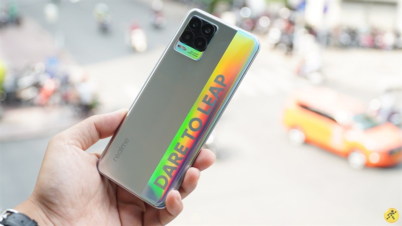 The back of Realme 8