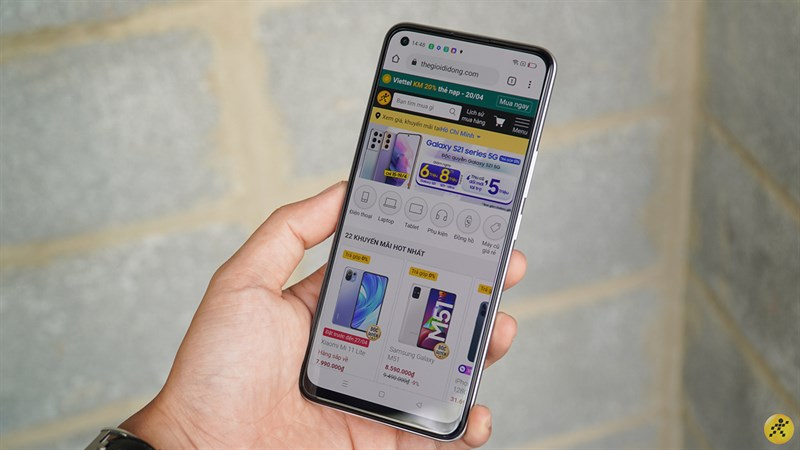 Realme 8 has a screen using Super AMOLED panels