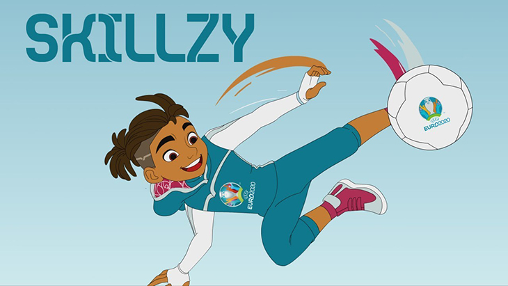 Linh vật Skillzy của Euro 2020