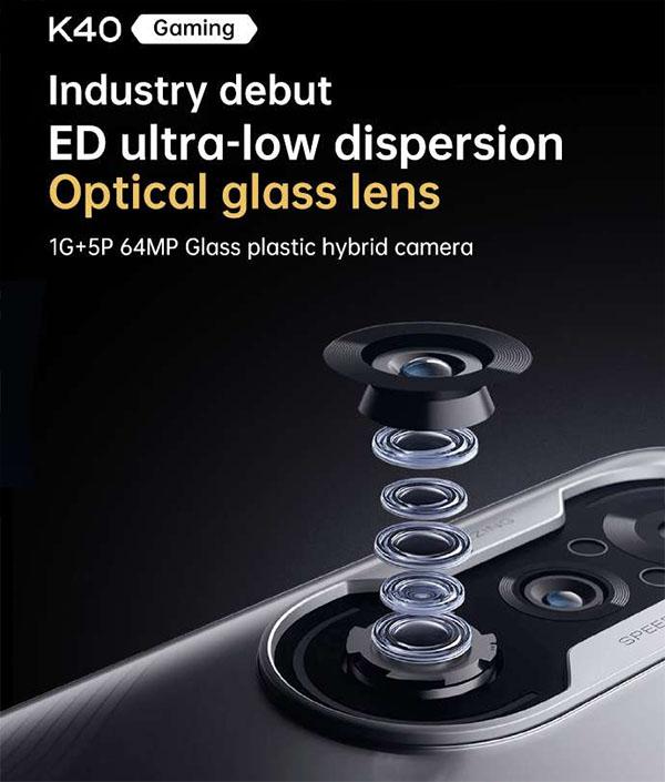 Ống kính chính được tích hợp 5 lớp nhựa và 1 lớp thủy tinh