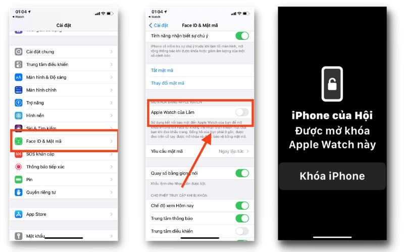 Cách để bạn kích hoạt tính năng mở khóa iPhone bằng Apple Watch