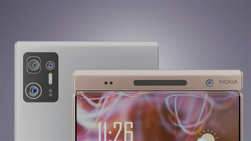 Mặt sau của Nokia Flip