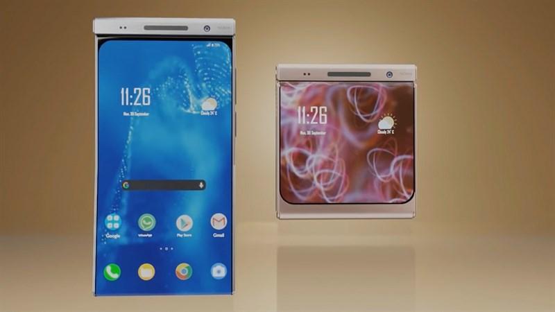 Thiết kế mặt trước của Nokia Flip