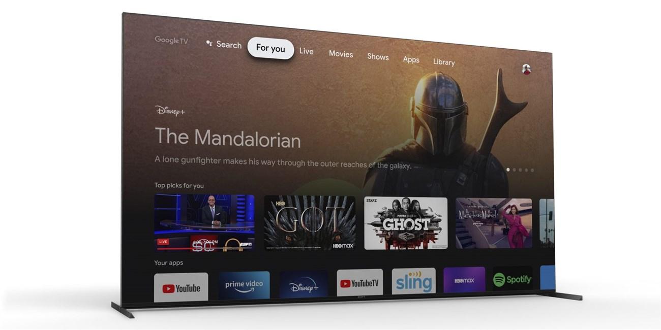 Danh sách TV Sony được cập nhật lên Google TV