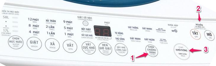 Kích hoạt chế độ vệ sinh lồng giặt