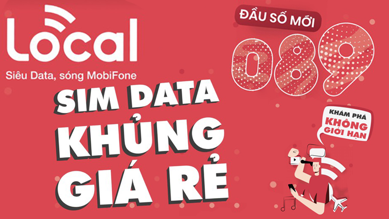 SIM Local sẽ chính thức được Thế Giới Di Động mở bán trên toàn quốc, đi cùng là những gói DATA khủng mà giá lại siêu rẻ