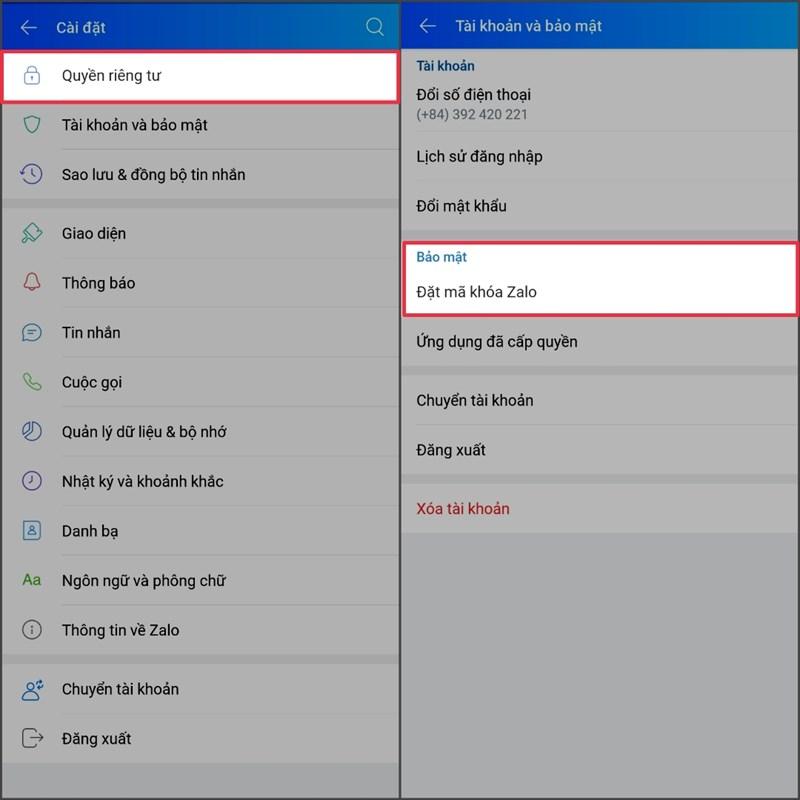 Đặt mã khóa riêng biệt cho ứng dụng, không lo bị lộ tin nhắn riêng tư