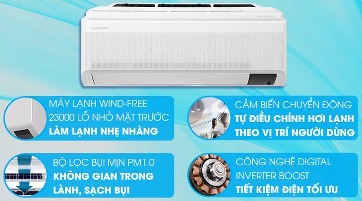 Máy lạnh Samsung Wind-Free Inverter 1 HP AR10TYAACWKNSV