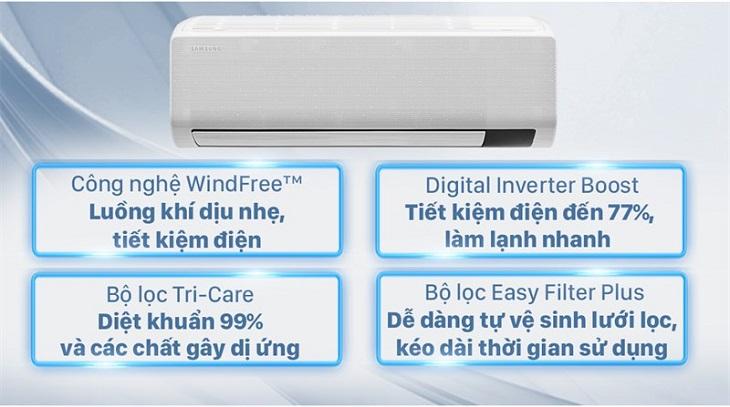 Máy lạnh Samsung Wind-Free Inverter 1 HP AR10TYGCDWKNSV