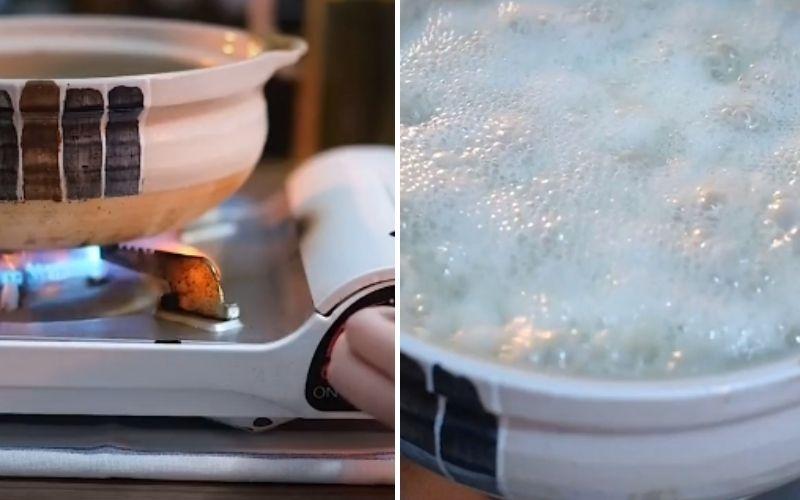 Món cháo thịt trứng bắc thảo