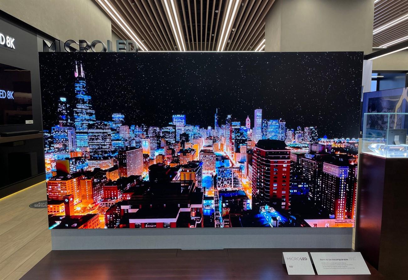 Cận cảnh chiếc TV microLED 110 inch, giá 3,5 tỉ của Samsung