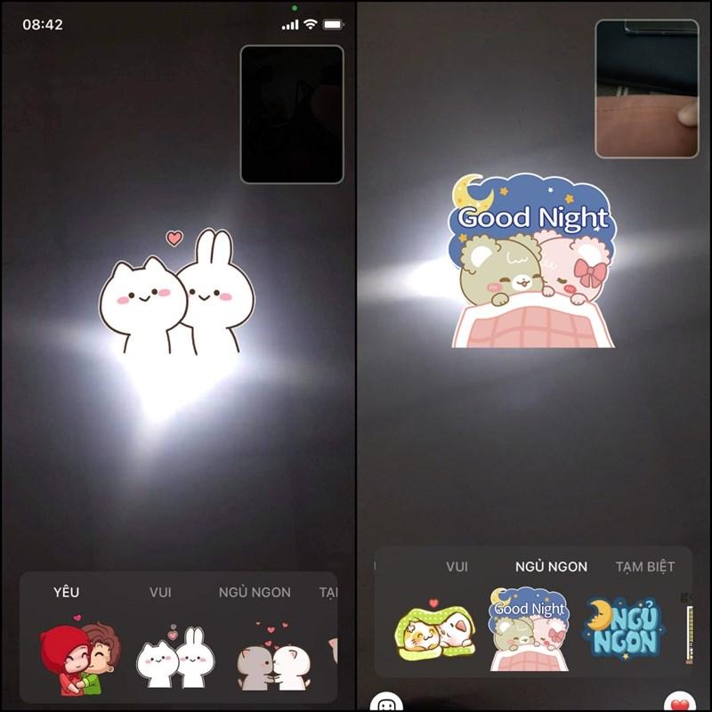 Gửi sticker trong khi gọi video để cuộc gọi thú vị hơn