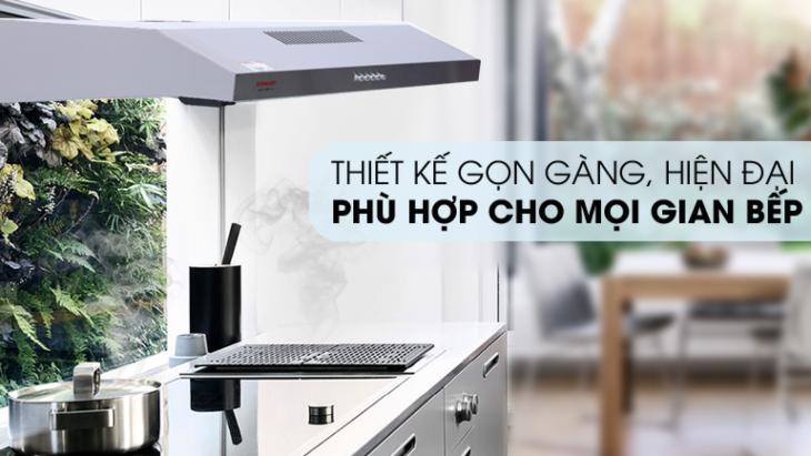 Máy hút mùi âm tủ có kích thước nhỏ gọn, phù hợp với đa số không gian bếp
