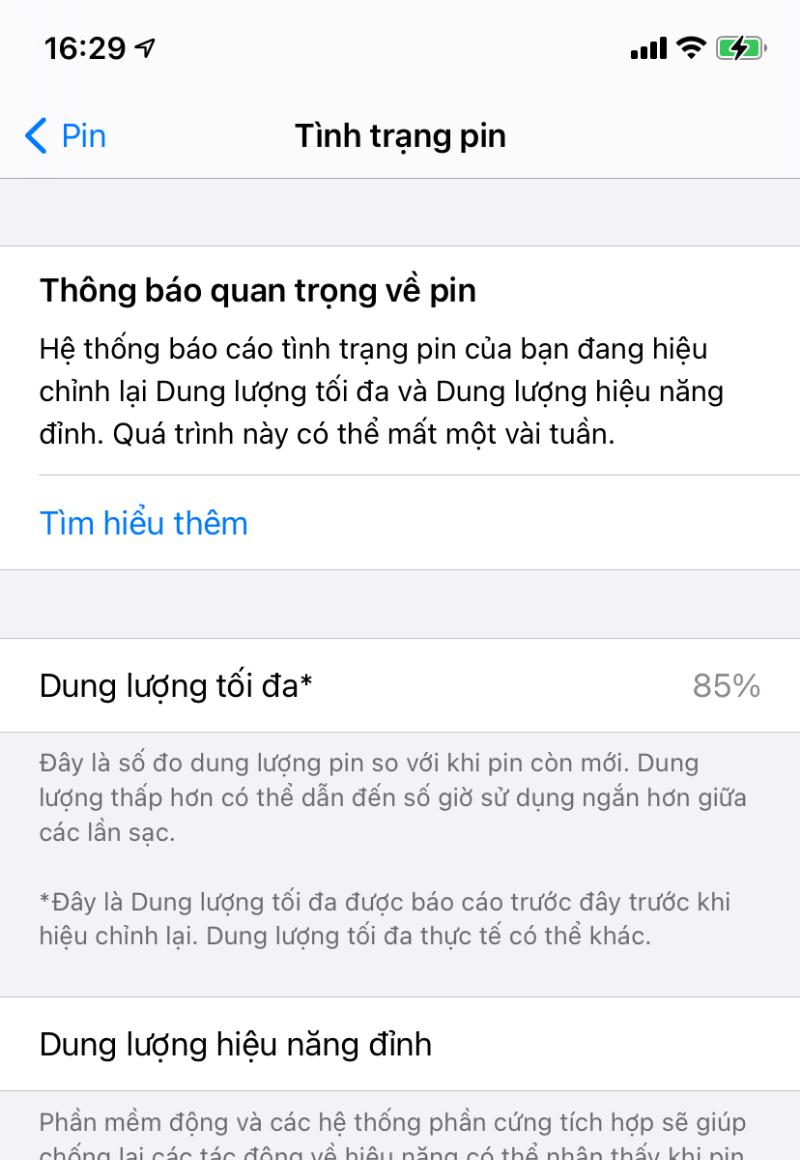 Đây là tình trạng pin trên iPhone 11 của mình trước khi cập nhật iOS 14.5.1