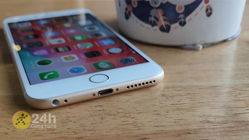Nút home vật lý quen thuộc trên iPhone 6s.