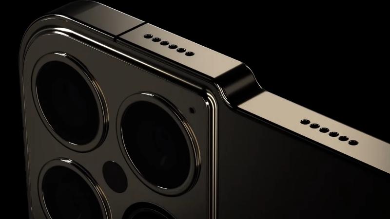 Thiết kế cực dị của iPhone 13 Pro trong video concept. (Nguồn: ConceptsiPhone).