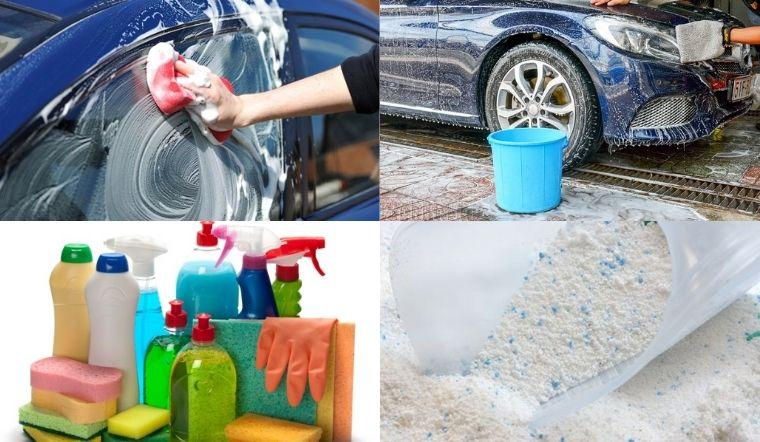 Dùng bột giặt, nước rửa chén rửa xe có tốt không?