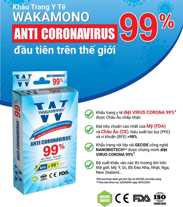 Khẩu trang Wakamono đã được bán trên thị trường Việt Nam với giá thành khoảng 45.000 VNĐ/ hộp 10 cái