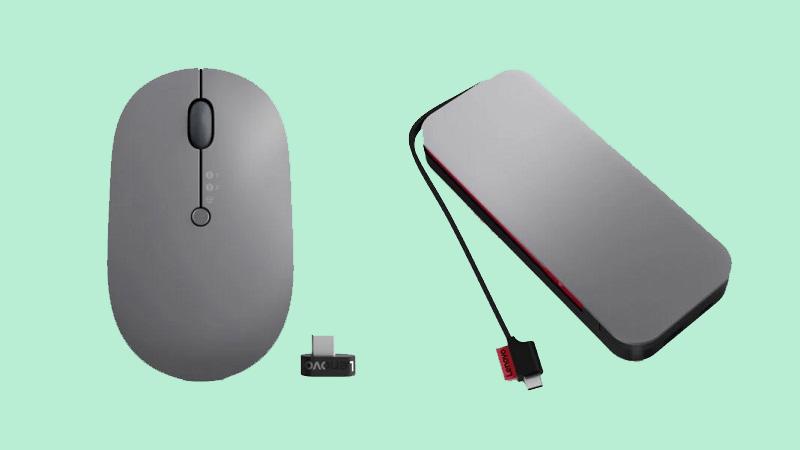 Chuột không dây và sạc dự phòng 20.000mAh Lenovo Go ra mắt