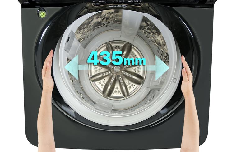 Đường kính lồng giặt đến 43.5 cm