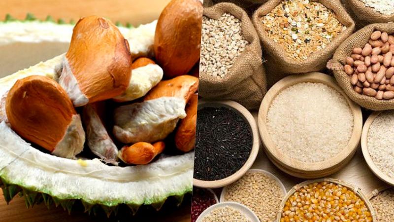 Hạt sầu riêng giúp cung cấp tinh bột