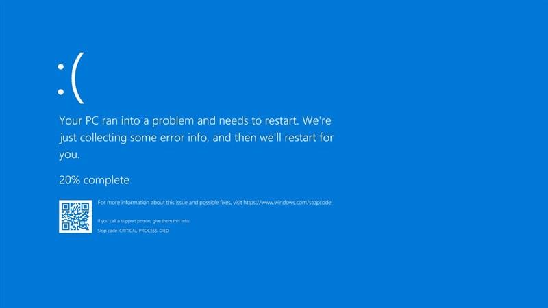 Lỗi màn hình xanh trên máy tính Windows.