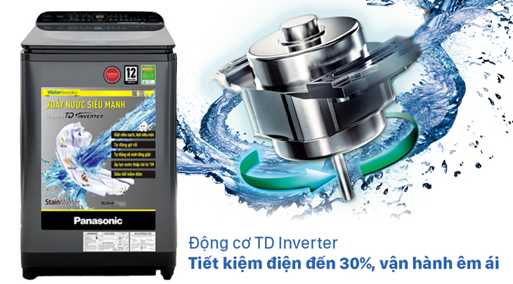 Công nghệ TD Inverter trên máy giặt Panasonic NA-FD10AR1BV