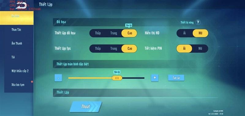 Cấu hình tựa game Zingspeed Mobile