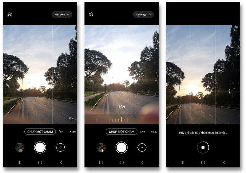 Giao diện của tính năng Single Take 2.0 trên Galaxy S21 5G chạy One UI 3.1.