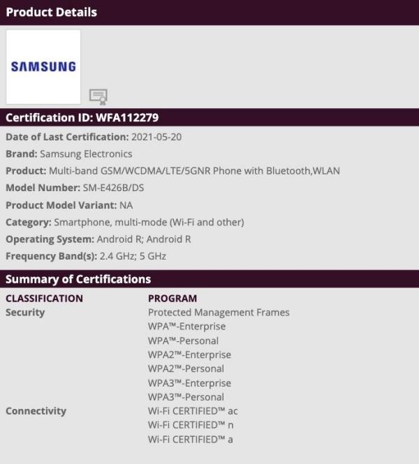 Galaxy F42 5G được Wi-Fi Alliance phê duyệt