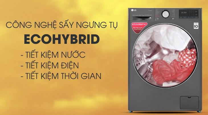 Công nghệ sấy tiết kiệm năng lượng trên Máy giặt sấy LG Inverter 10.5 kg FV1450H2B