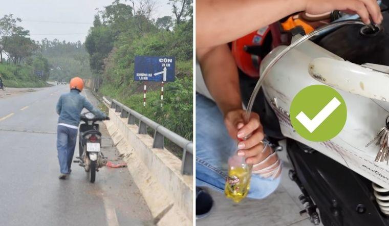 Mẹo siêu dễ để rút xăng từ xe máy mà không cần dùng miệng hút