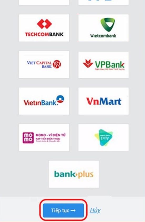 Cuối cùng, bạn chỉ cần nhập tài khoản ngân hàng của bạn và xác nhận để hoàn tất thanh toán.