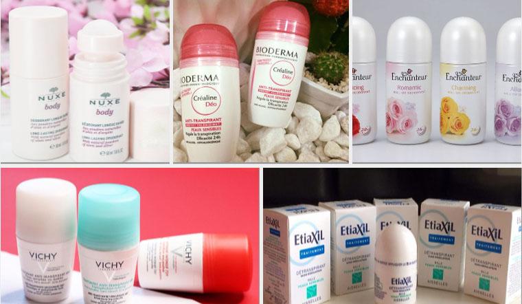 5 thương hiệu lăn khử mùi Pháp khử mùi tốt, ngăn mùi cả ngày
