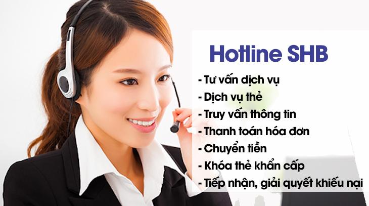Dịch vụ được hỗ trợ qua hotline