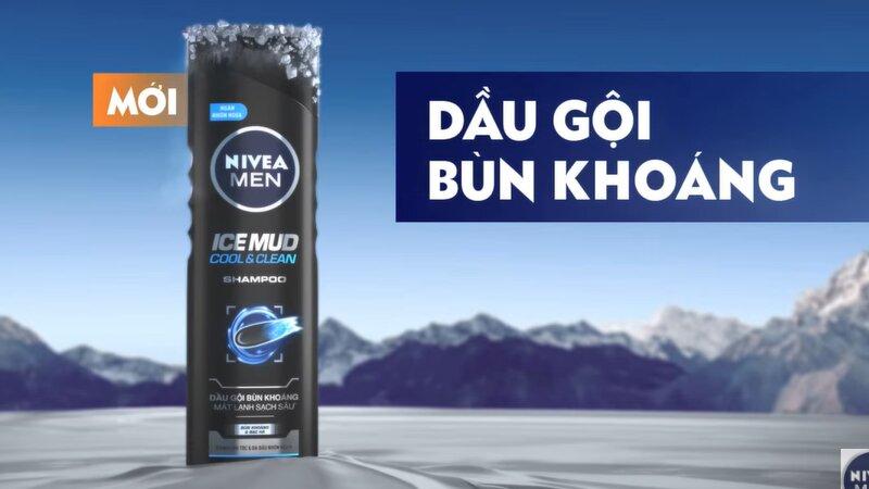 Dầu gội bùn khoáng Nivea Men Ice Mud Cool & Clean