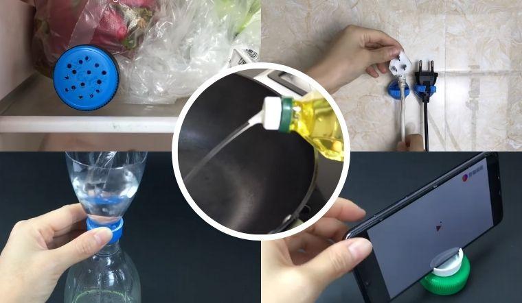Nắp chai nhựa đừng vứt vì chúng còn làm được 5 vật có ích này cho nhà bạn