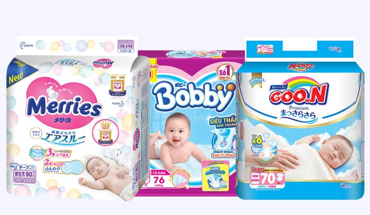 Top 5 thương hiệu tã bỉm Nhật siêu thấm hút cho bé yêu