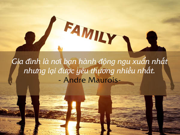 Gia đình là nơi bạn được yêu thương
