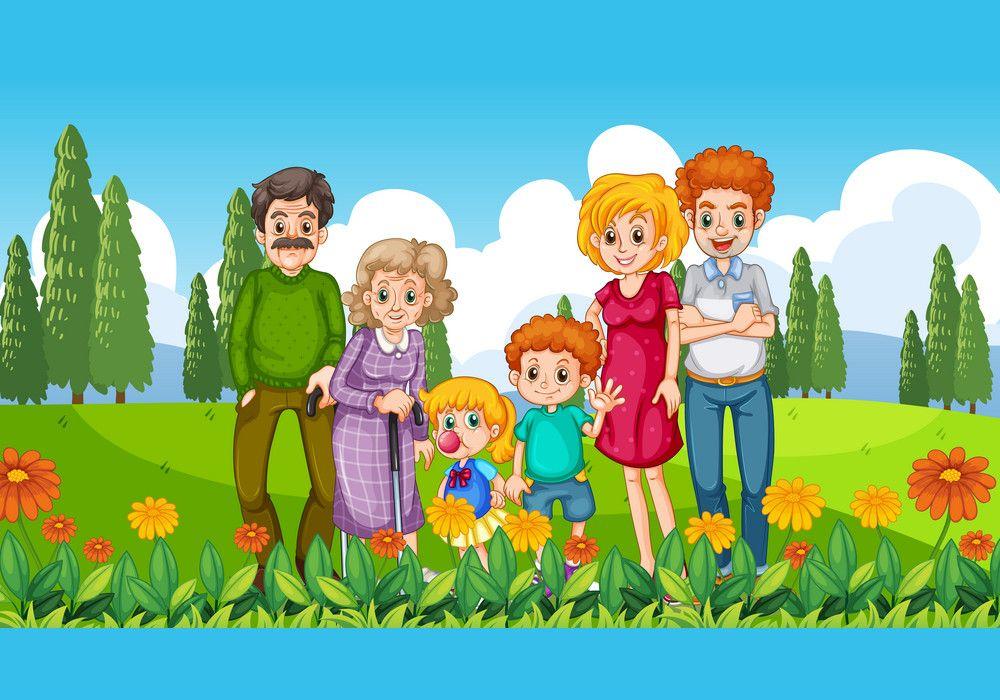 Ảnh minh họa gia đình đi công viên cùng nhau