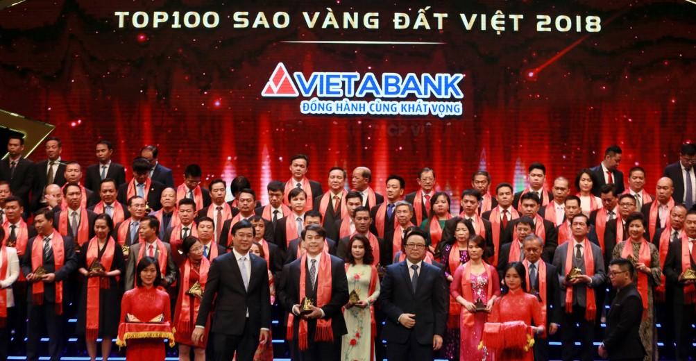 VietABank vinh dự đón nhận giải thưởng Sao Vàng đất Việt 2018