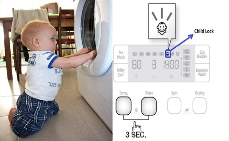 Chế độ khoá trẻ em máy giặt Electrolux là gì (Child Lock)?
